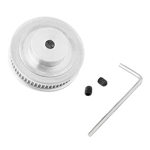60 Zähne GT2 Zahnriemenscheibe, Aluminium 5mm Bohrung Zahnriemenrad, mit 1pc Schraubenschlüssel und 2 Stück Schrauben, für 3D-Drucker