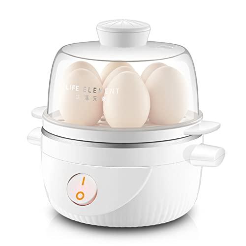 ZHHAOXINPA Hervidor De Huevos, Cocedor, Hervidor Rápido, Cazador Furtivo para Preparar hasta 7 Huevos Duros Grandes, Bandeja para Escalfar Y Tortilla Incluida, Color Blanco