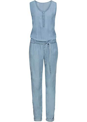 bonprix Hübscher Overall mit Bindeband und Eingrifftaschen Blue Bleached 52 für Damen