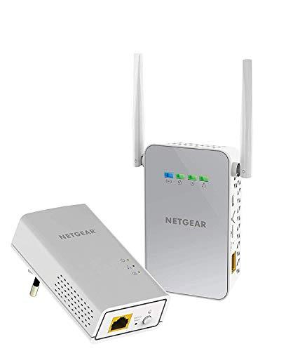 Netgear PLW1000 PowerLINE Set (1x Adapter AC-WLAN Access Point und 1x Adapter GB-LAN-Port, Geschwindigkeit bis zu 1000 MBit/s, WiFi PowerLAN Set für Internet über die Steckdose)