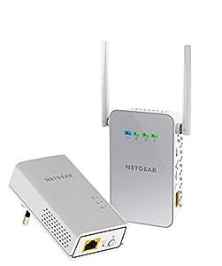 Netgear PLW1000-100PES - Kit de adaptadores Powerline Gigabit (1 Puerto Ethernet Gigabit, Punto de Acceso WiFi, AC 1000 Mbps), Blanco