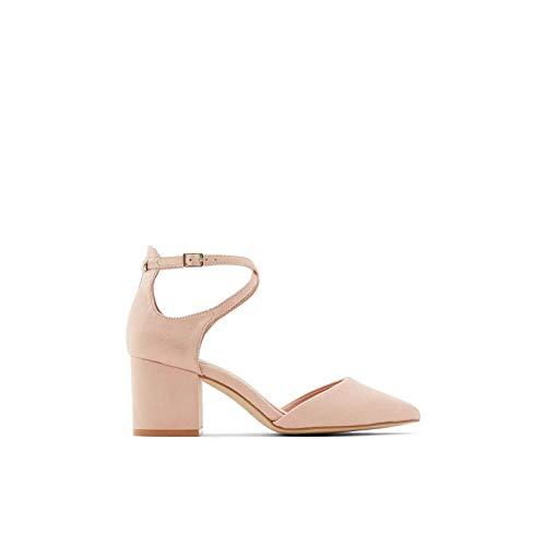 ALDO Women's Brookshear Block Heel Pump Dress Shoes, Light Pink, 5
