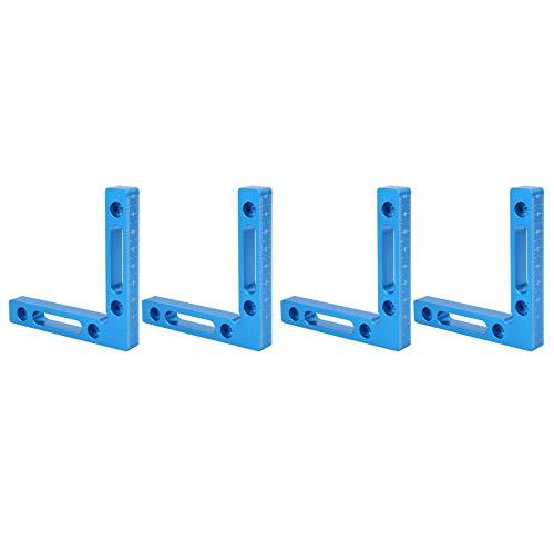 Cobeky Aleación de aluminio 90 grados cuadrados de posicionamiento (12,5 x 12 cm) abrazaderas de ángulo recto para carpintero herramienta para marco de fotos
