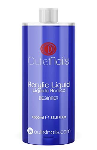 Liquido Acrilico 1000ml ideal para Principiantes | Monomero para uñas acrílicas | Secado Lento - medio ideal para Principiantes