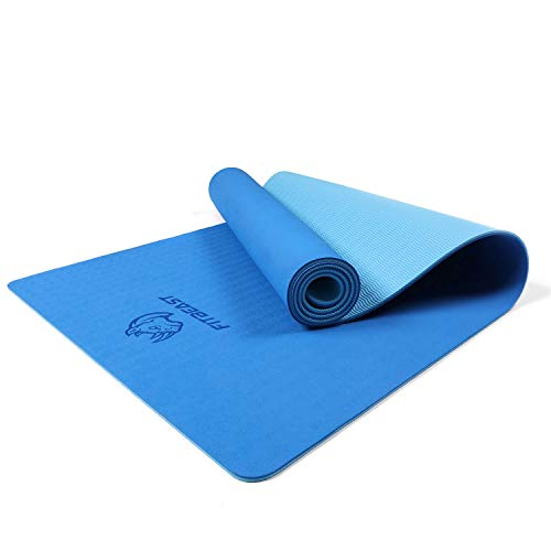 FitBeast Yoga Mat, 6mm Thick Non-Slip Exercise Yoga Mat, TPE Eco-Friendly...