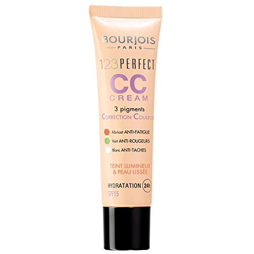 Bourjois - Cc Cream 1.2.3 Perfect - 3 Pigments Correcteurs - Hydratation 24H - 34 Halé 30ml