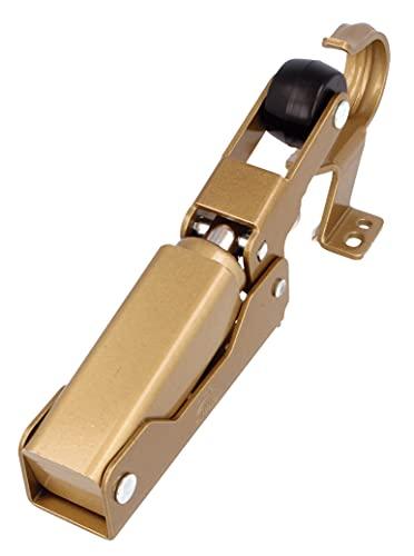 Amig - Retenedor Hidráulico de Aluminio Anodizado Color Dorado Mate para Freno o Retención de Puertas de Peso Máximo 40 kg y 85 cm de Ancho | Amortiguador Anti Golpes y Portazos | Incluye Tornillos