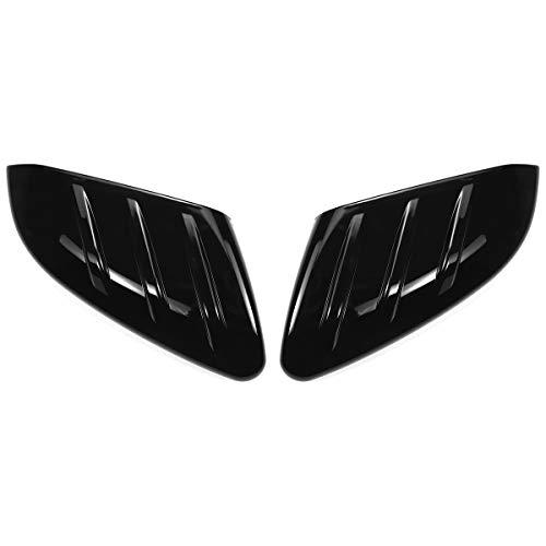 LFHCW Tapa de Espejo retrovisor, para Honda para Civic 2016-2020 Coche Retrovisor Retrovisor Cubierta de Cubierta Cap de Tapa Add-on Shiny Black 2pcs Coche Puerta del Lado