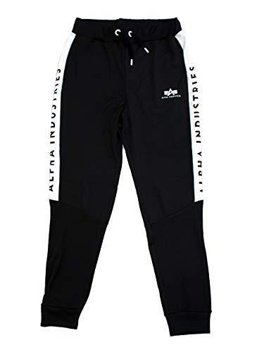 ALPHA INDUSTRIES Herren Jogginghose Track Suit Jogger II schwarz (M)