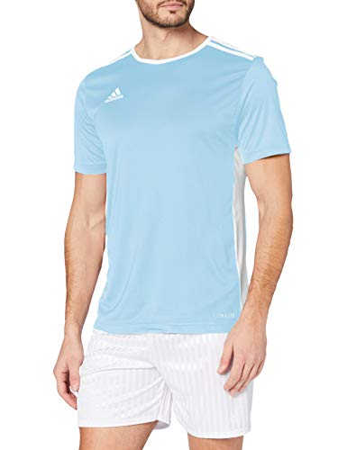 adidas Entrada 18 JSY T-Shirt, Hombre, Clear Blue/White, S