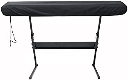 Fablcrew Protective Cover for Piano Keyboard 61 Keys Electronic Keyboard Anti-Dust Cover for Yamaha Roland Black