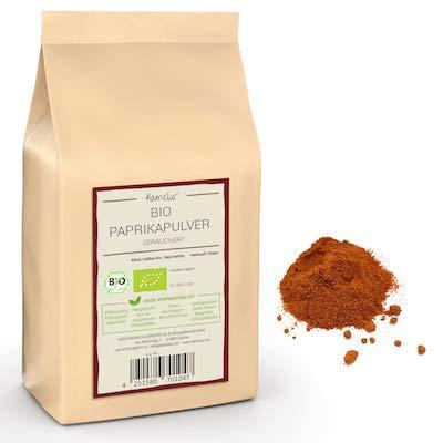 250g di BIO Paprika in polvere affumicata - BIO Paprika dolce affumicata, senza additivi - confezionata in imballaggi biodegradabili