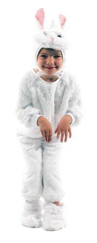 Party Pro- Déguisement de Lapin, Unisex-Child, 87115435, Blanc, 3-5 ans