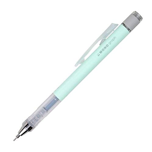 Tombow 53108 MONO Graph Mechanical Pencil, Pastel, Mint Green. Features Innovative Shake-Mechanism and Tombow MONO Eraser