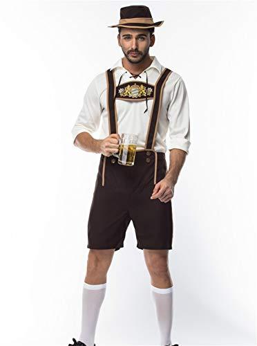 Männer Halloween Cosplay Bier Festival Kleidung männlich Sexy Gala Arena Performance Kleidung, Weiß, l