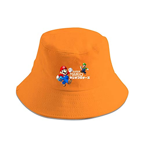 Super Mario Hat Super Mario Luigi Mario Mario Pescador sombrero hombres y mujeres cuenca sombrero protector solar