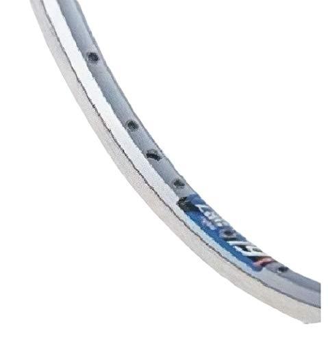 TOM Rueda delantera de 28 pulgadas (622), freno de rodillo de aluminio y acero inoxidable, color plateado.