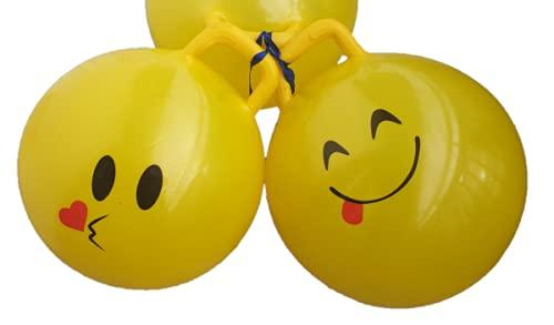 TLDSHOP® - Jumping Ball Palla per Saltare Bambini - Gioco Bimbi Casa e all'aperto - Smile Varie faccine -PZ 1 - Invio Casuale