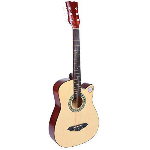 Acoustic Guitar 38Inch Full Size Folk Pop Guitar set, Traditional Wood...