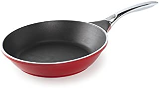Nordic Ware Pro Cast Traditions Saute Skillet with Stainless Steel Handle, 10-Inch, Cranberry