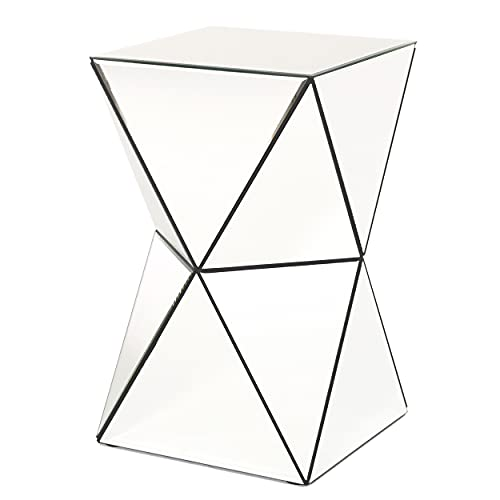 Christopher Knight Home Aami Mirrored Side Table, Clear / Mirror