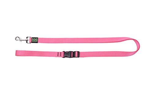 bub's Manos Libres Correa Perro con Tres Posiciones Normal, cinturón y Bandolera Ancho 25mm Largo de 1,15m a 2m (Rosa)