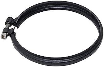 Pinza de bloqueo de combustión tubería coaxial de acero negro D.130 EC 316 para estufa de pellets Hecho en Italia UNI 1856/2