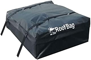 RoofBag Rooftop Cargo Carrier| 100% Waterproof-Premium Triple Seal for Maximum Protection| Made in USA|2 Yr Warranty | for Cars with Side Rails, Cross Bars or Basket| Includes Heavy Duty Straps