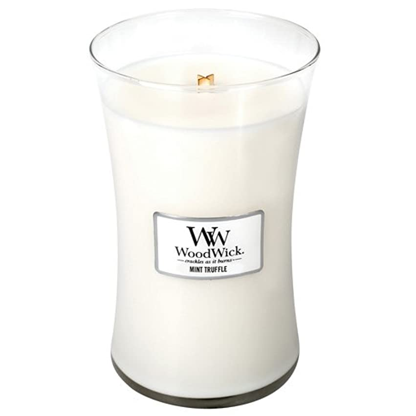 個人的に欠陥千Woodwick Mint Truffle Large Scented Jar Candle