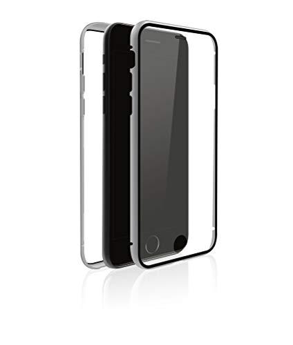 Black Rock - 360° Glass Case Silver kompatibel mit Apple iPhone 7/8/SE (2020) | (Transparent mit silbernem Rahmen)