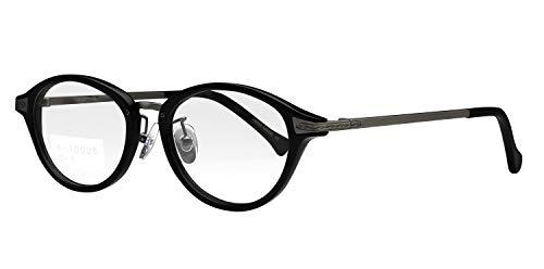 鯖江ワークス(SABAE WORKS) 遠近両用メガネ 老眼鏡 ボストン RN10025 (遠近両用 度数+2.00, C1 ブラック)