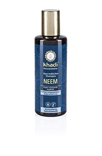 khadi Ayurvedisches Shampoo Neem 210ml I natürliches Haarshampoo gegen Schuppen und gereizte Kopfhaut I 100% pflanzlich