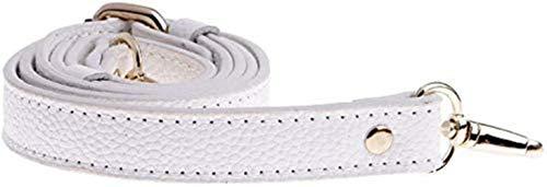 SLL Spielzeug Einstellbare echtes Leder-Handtaschen-Schulter-Beutel-Bügel Griff Ersatzbeutel Zubehör (Color : White)