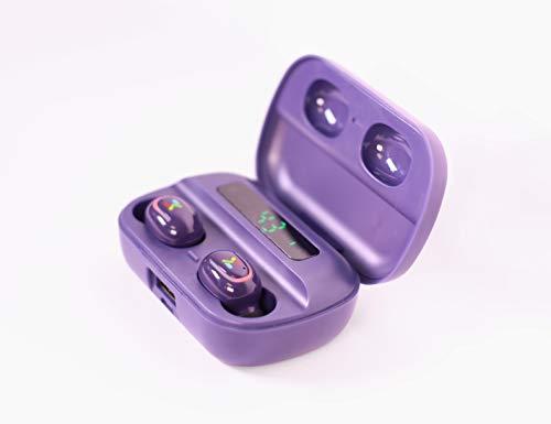 Auriculares inalámbricos con micrófono – 5.0 Bluetooth Touch Control IPX5 impermeable Smart LED pantalla compatible con todos los dispositivos