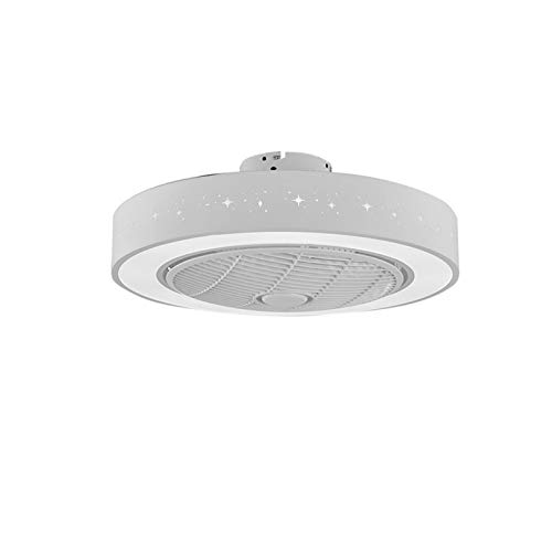 ASPZQ Ventilador de Techo con Luces Control Remoto LED 3 Velocidades Lámpara Fandelier Cerrada Perfil Bajo con Hoja Oculta, 55cm / 21 Pulgadas, 15 Colores (Color : I, Size : 200-240V)