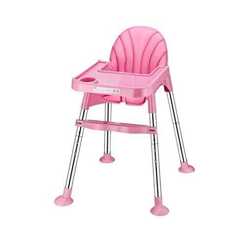 YDHYYDQCFJL Baby Kinderstoel - Baby Eetstoel Verstelbare Baby Kinderstoel Voeren Verwijderbare Voedsellade Draagbaar
