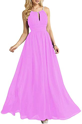 SongSurpriseMall Bruidsmeisjesjurk, grote maten, avondjurk, halterhouder, chiffon, party, prom bruiloftsgast jurk