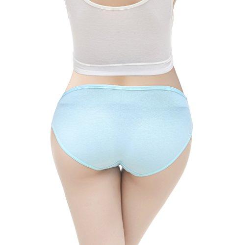 KUCI マタニティショーツ,KUCI女性のコットンマタニティでパンティーブリーフの妊娠パンツ, フロントクロスボクサーショーツ XL, Grey+blue+Champagne3pack