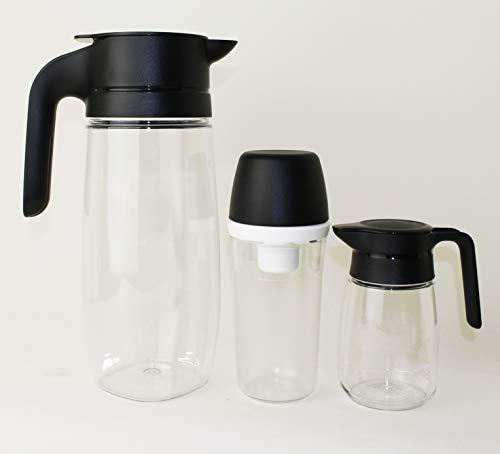 TUPPERWARE TupperTime 1,7L Kanne Saftkanne, Milchkanne + 400ml Zuckerhut groß + 350ml Milchkännchen + Mini Trichter Lila