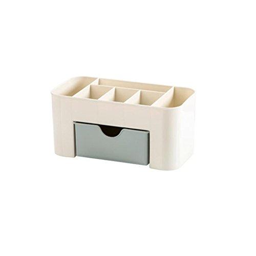erthome Einsparung Space Schublade Typ Make-up Kit Desktop Kosmetik Organizer Aufbewahrungs Box (22 10 10.3 cm, Blau), 22 x 10 x 10.3 cm
