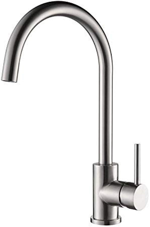 Contemporary Centerset Ceramic Valve Single Handle One Hole Chrome, Kitchen Faucet