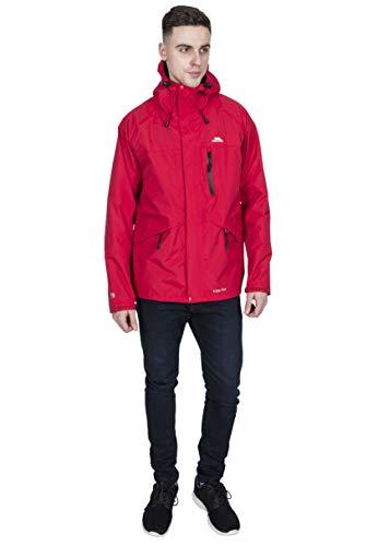 Trespass Corvo Jacket, Red, S, Wasserdichte Jacke für Herren, Small, Rot