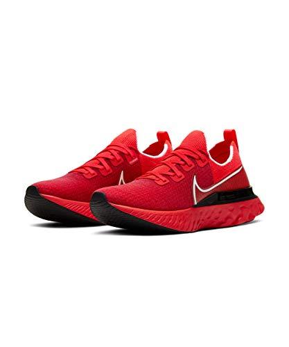 Nike React Infinity Run Flyknit, Running Shoe Mens, Bright Crimson/Blanco/Negro/Infrared