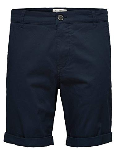 SELECTED HOMME Herren Shorts SLHPARIS Regular FIT - MDark Sapphire