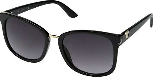 GUESS GF0327 Shiny Black With Gold/Smoke Gradient Lens One Size