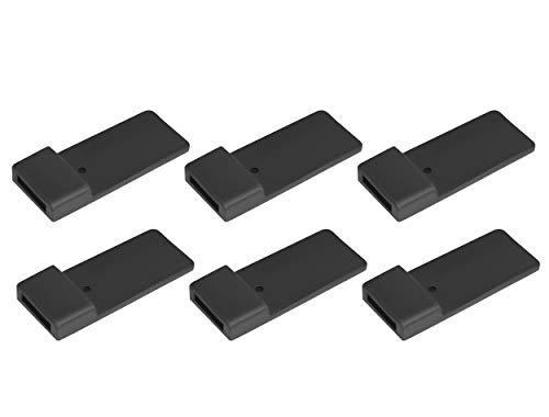 Bullwing Felgenschutz aus Gummi für Fahrradträger 6 Stück im Set Schwarz