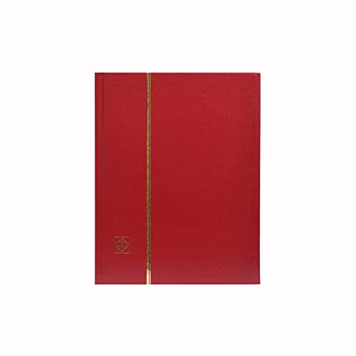 Stamp Album 32-Black Page Stamp Book Stockbook Lighthouse LS2/16 Red (Size: 6 1/2' x 9')