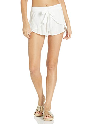 Roxy Women's Salt Washed Cover Up Short, Bright White, M