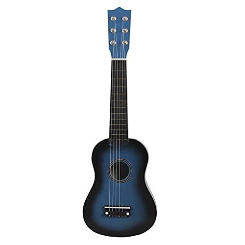 YSTSPYH Ukelele 21 Pulgadas Ukulele Soprano Principiante Ukulele Guitarra Ukulele Cuello de Caoba Tuning Delicado Peg 4 Cuerdas Madera Ukulele (Color : Blue)