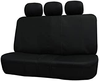FH Group FB051BLACK013 Black Universal Split Bench Seat Cover (Allow Right and Left 40/60 Split, 50/50 Split Fit Most of V...